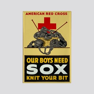 Our Boys Need Sox Vintage WWI Poster Magnet