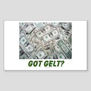 Got Gelt? Jewish Sticker (Rectangle)