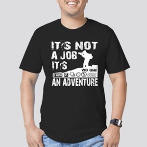 it's not ajob it's an adventu Men's Fitted T-Shirt