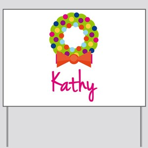 Christmas Wreath Kathy Yard Sign
