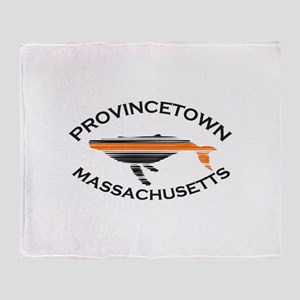 Provincetown MA - Whale Design. Throw Blanket