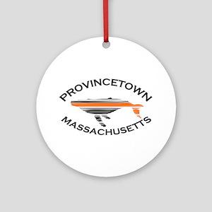 Provincetown MA - Whale Design. Ornament (Round)