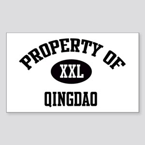 Property of Qingdao Rectangle Sticker