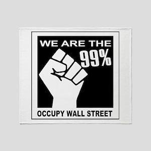 99 percent fist Throw Blanket