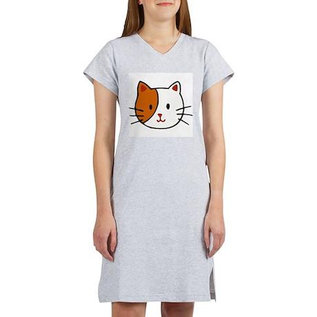 Calico Cat Cartoon Women's Nightshirt
