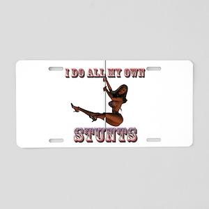 Stunts 3D 3 Aluminum License Plate