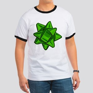 Dark Green Bow Ringer T-Shirt