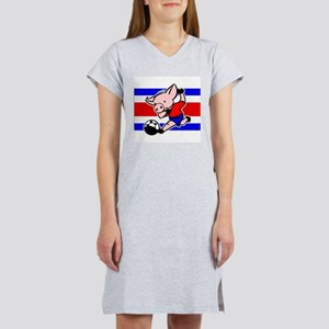 Costa Rica Soccer Pigs Women's Nightshirt