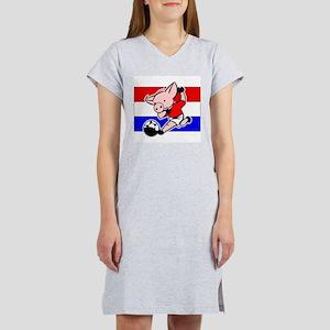 Croatia Soccer Pigs Women's Nightshirt