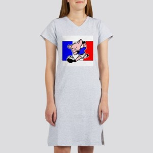 France Soccer Pigs Women's Nightshirt