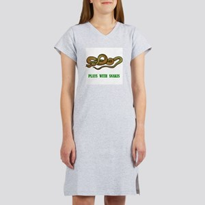 Plays With Snakes Women's Nightshirt