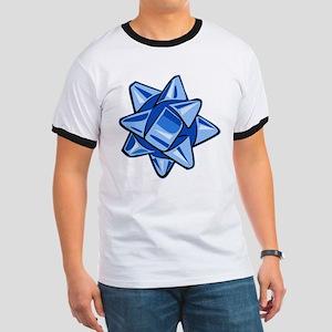 Dark Blue Bow Ringer T-Shirt