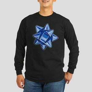 Dark Blue Bow Long Sleeve Dark T-Shirt