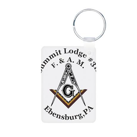 Summit Lodge #312 Aluminum Photo Keychain