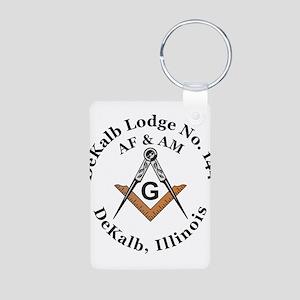 Masonic Lodge Aluminum Photo Keychain