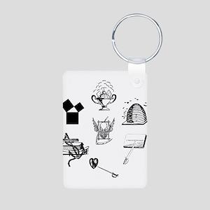 Master Mason Emblems No. 1 Aluminum Photo Keychain