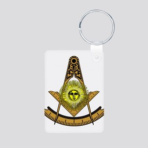 Past Master Design 5 Aluminum Photo Keychain