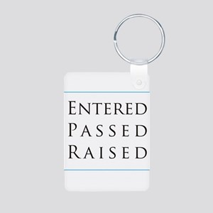 Entered Passed Raised Aluminum Photo Keychain