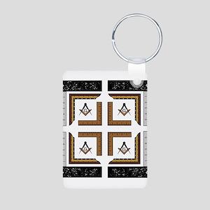 Square Design No. 3 Aluminum Photo Keychain
