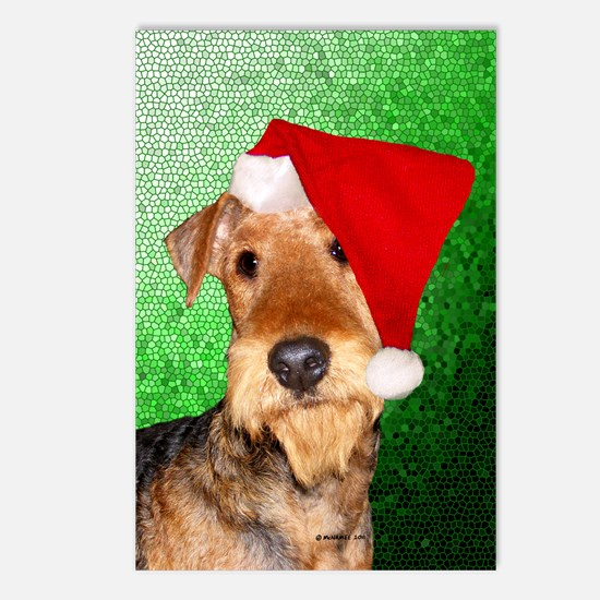 Airedale Terrier Christmas Postcards (Package of 8