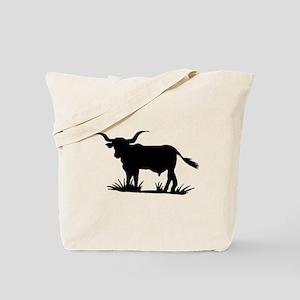 Texas Longhorn Silhouette Tote Bag
