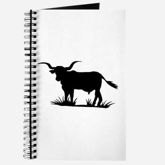 Texas Longhorn Silhouette Journal