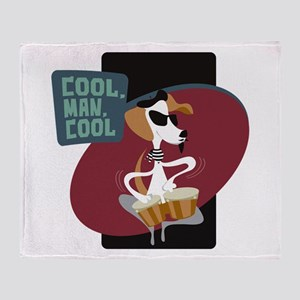 Beatnik Beagle Throw Blanket