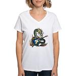 DragonGuitar(S) Women's V-Neck T-Shirt