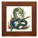 DragonGuitar(S) Framed Tile