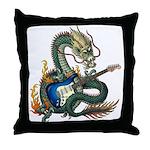 DragonGuitar(S) Throw Pillow