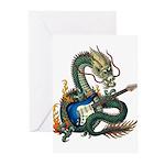 DragonGuitar(S) Greeting Cards (Pk of 20)