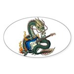 DragonGuitar(S) Sticker (Oval)