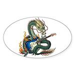 DragonGuitar(S) Sticker (Oval 50 pk)