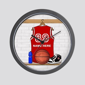 Personalized Basketball Jerse Wall Clock