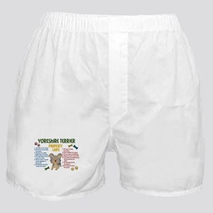 Yorkshire Terrier Property Laws 4 Boxer Shorts