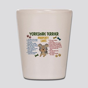 Yorkshire Terrier Property Laws 4 Shot Glass