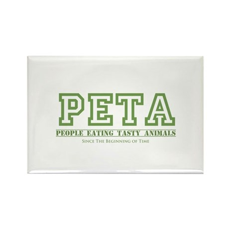 People Eating Tasty Animals Rectangle Magnet (10 p