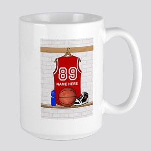 Personalized Basketball Jerse Large Mug