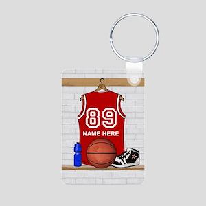Personalized Basketball Jerse Aluminum Photo Keych