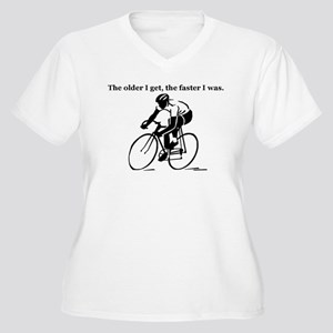 The older I get...Cycling Women's Plus Size V-Neck