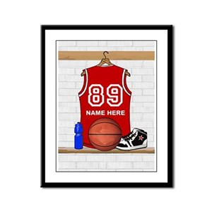 Personalized Basketball Jerse Framed Panel Print