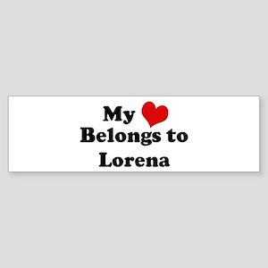 My Heart: Lorena Bumper Sticker