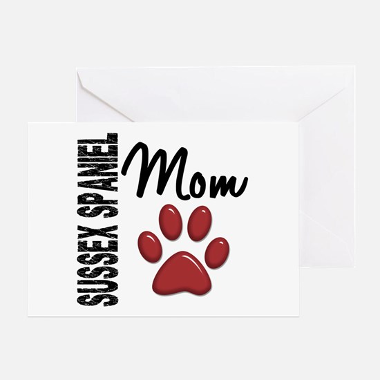Sussex Spaniel Mom 2 Greeting Card