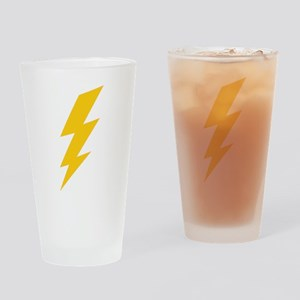 Yellow Thunderbolt Drinking Glass