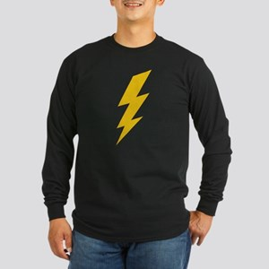 Yellow Thunderbolt Long Sleeve Dark T-Shirt
