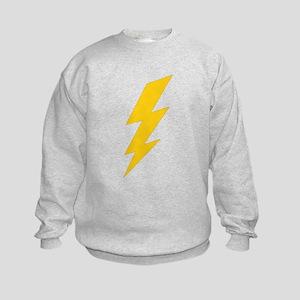 Yellow Thunderbolt Kids Sweatshirt