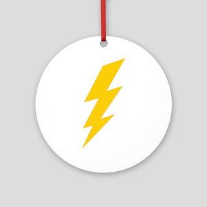 Yellow Thunderbolt Ornament (Round)