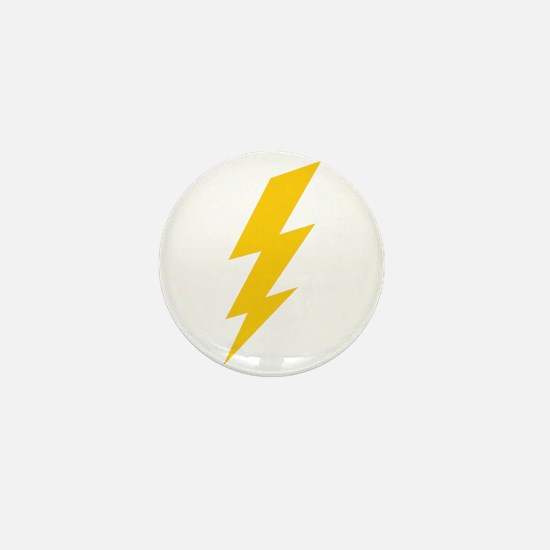 Yellow Thunderbolt Mini Button