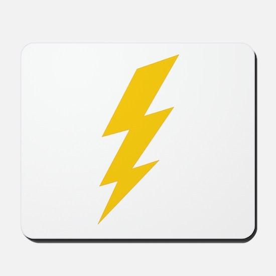 Yellow Thunderbolt Mousepad