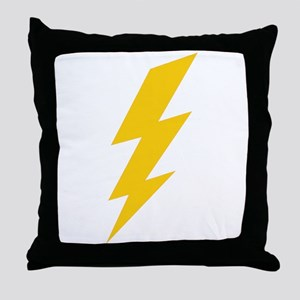 Yellow Thunderbolt Throw Pillow